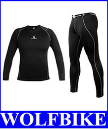 Vente De Conditionnement Thermique Hivernale Pas Cher-WOLFBIKE Hommes Polaire Thermal Winter Bike Cyclisme Wear Maillots Sportswear Vêtements + Riding Bicycle Pants Tight Set Noir nouveau top vente gratuit