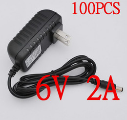 Wholesale Ac Dc Ic - IC solutions, short circuit protection, overload protection 100PCS AC 100V-240V Converter Adapter DC 6V 2A Power Supply US Plug