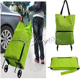 Wholesale Dots Luggage - Lightweight Foldable Shopping Trolley Wheel Folding Luggage Bag Traval Cart HOT