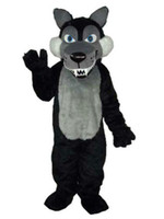 Long Wool Big Black Wolf New Plush Disfraz de Mascota Adulto envío gratis