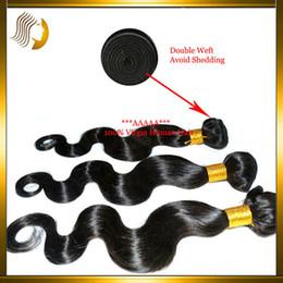 "Wholesale Virgin Hair Weft 4a - Cheap Hair Bundles!!!4A Indian Body Wave Human Hair Extensions 1Pcs Cheap Indian Virgin Human Hair Weft Double Weft Natural Black 12-26"""