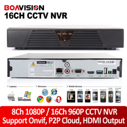 Wholesale Iphone Networking - P2P cloud CCTV NVR 16ch 960P 720P or 8ch 1080P ONVIF HDMI OUTPUT H.264 Network NVR for IP camera support Windows Mobile Iphone Android