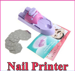 Machine À Ongles En Gros Pas Cher-Gros-407-1set-Nail Art Stamper Imprimante couleur Stamp d'impression machine ongles estampage machine d'impression à ongles imprimante à ongles ensemble gros