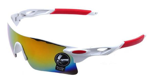 Großhandels-407-2014 neues Entwurfs-freies Verschiffen-Großhandelssport-Männer Fahrrad, das auf Fuß-Sonnenbrille 6 Farben-Gelb-Linsen-NachtSun-Gläsern radfährt