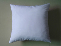 Wholesale white DIY Blank Sublimation pillow case square back cushion