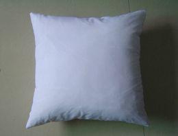 Wholesale Wholesale White Pillows - white DIY Blank Sublimation pillow case square back cushion 100pcs lot