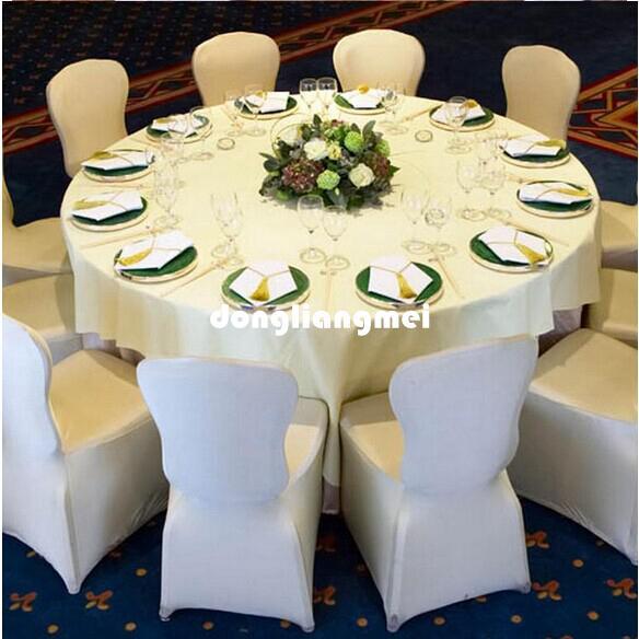 Nuovo universale bianco poliestere spandex coperture della sedia da sposa matrimoni banchetto pieghevole decorazione dell'hotel decorazione vendita calda all'ingrosso # Z313