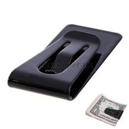 Großhandels-Neuer Edelstahl-schwarzer dünner Taschen-Bargeld-Geld-Klipp-Halter von Fabrikanten