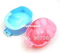 Wholesale Hand Stamped Machine - Wholesale-407-Hot Sale Nail Art Tips Hand Bath Cleanser Remover Container Manicure Tools Nail Manicure soak bowl dropshipping