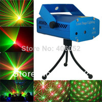Wholesale Mini Holographic Projector - Red & green RGB mini stage sound auto controled party stroboflash holographic lighting ktv dj disco laser projector stroboscopic