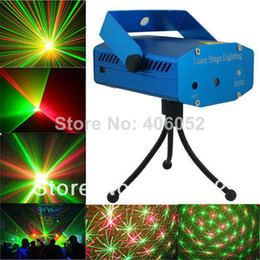 Wholesale Projector Laser Sound - Red & green RGB mini stage sound auto controled party stroboflash holographic lighting ktv dj disco laser projector stroboscopic