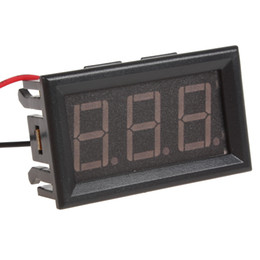 Wholesale Led Display Panel Dc Voltage - YB27 DC 4.5-30V Red LED Voltage Meters Display Panel Digital Voltmeter for Car   Motorcycles CEC_649