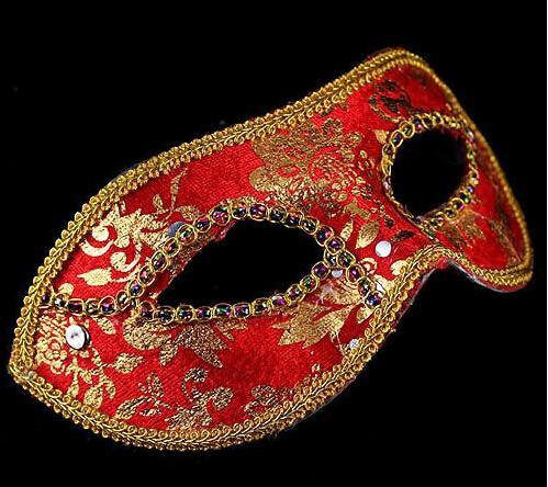 하프 페이스 마스크 할로윈 마스크가 남성 베니스 이탈리아 플랫 헤드 레이스 밝은 헝겊 마스크