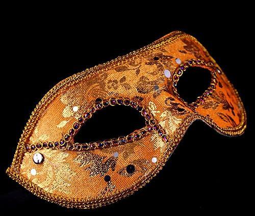 Demi-Masque Halloween Masquerade masque mâle Italie Italie flathead dentelle lumineux tissu masques