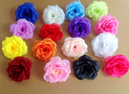 """Wholesale Artificial Hot Pink Roses Wholesale - HOT 100pcs Diameter 8cm 3.15"""" Silk Artificial Flower Peony Camellia Fake Rose Flower Heads for Wedding Christmas Party Decorative flower"""