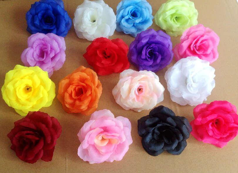 More colors available for 100p New Arrival Silk Artificial Flower Single Peony Rose Camellia Wedding Christmas 8cm 15 Colours