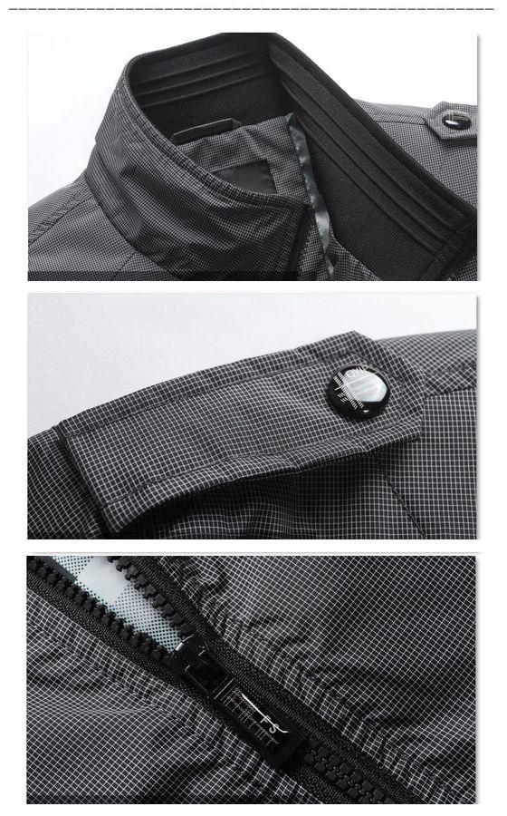 JK118 neue Mens Art und Weise Luxus Outwear wasserdichte Jacken Mäntel, Winddichtes 3 Farben