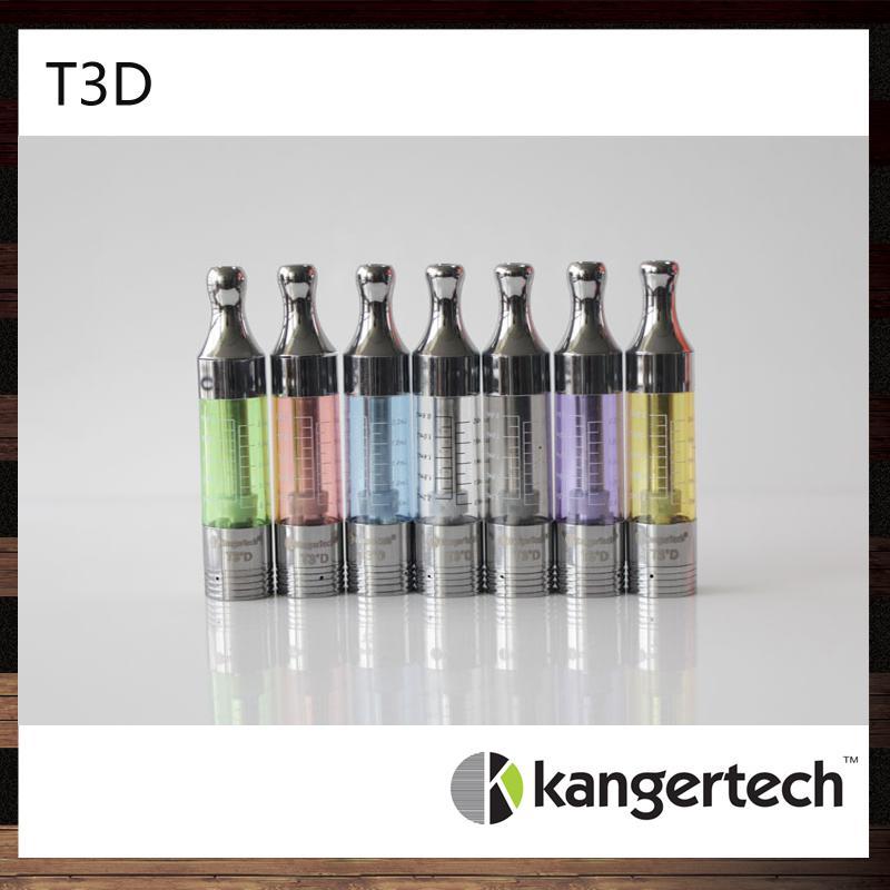 100% originale lKangertech T3D Clearomizer Kanger T3D Cartomizer colorato Kanger T3D atomizzatore con bobine doppie ricaricabili modificabili