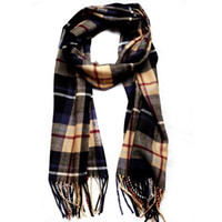 2014 Womens Mens Designer Long Scarf Coton Jaune Winter Tassel Striped Plaid Foulards Fashion Style Vente en gros