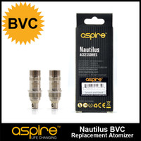 Wholesale Ecig Heads - 100% Original Aspire Nautilus Coil BVC Aspire Coils Nautilus Coil Heads Atomizer Core For Aspire Nautilus & Mini Nuaitlus Ecig Vapor