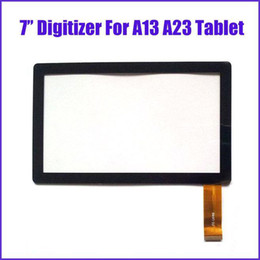 Wholesale Tablet Touch Screen Repairs - DHL Brand New Touch Screen Display Glass Digitizer Digitiser Panel Replacement For 7 Inch Q88 A13 A23 Tablet PC Repair Part MQ50