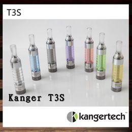 Wholesale Ego Kanger T3s - Kangertech T3S Clearomizer Kanger T3S Atomizer Kanger T3 S Cartomizer With Changeable Coil For E Cigarette eGo 510 Series
