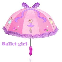 Free Kids Craft UK - Free shipping kidorable ballet girl princess kids pink umbrella, children kid fairy cartoon umbrellas, cut crafts gift for child