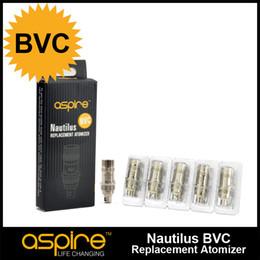 Wholesale Core Wick - 100% Orginal Aspire BVC Coil Head Bottom Vertical Dual Coil Replacement Coil Nautilus Atomizer Coil Wire Ecig Wick Core For Aspire Nautilus