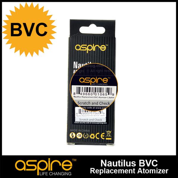 top popular 100% Original Aspire Nautilus BVC Coil 0.7 1.6 1.8 Ohm Bottom Vertical Coils for Nautilus Mini 2 BVC Atomizers 2021