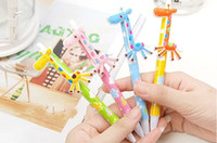 Wholesale Stationery Cartoon Giraffe Rollerball Pens Ball point Pen Lovely Pencil Children s Toys Gifts New Specials