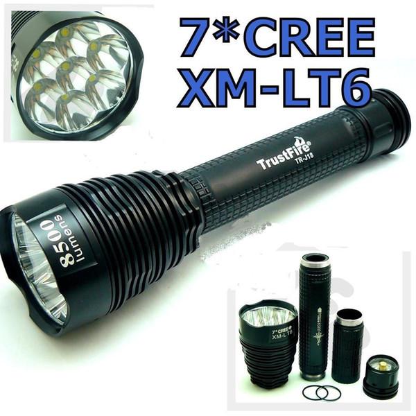 TrustFire J18 7-LED lampe de poche 8500 Lumens Camping lumière 5-mode Torche