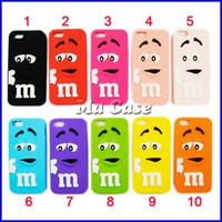 Wholesale Note2 3d Cases - 2014 Cute 3D Cartoon M&M Chocolate Case Colorful Back Defender Rainbow Beans Cover for Galaxy S3 S4 note2 note3 with free shipping