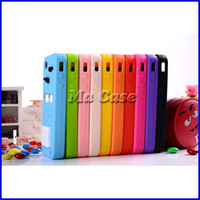 Wholesale Galaxy S4mini - Cartoon M&M Defender Candy Rainbow Beans Smile Soft Silicone Case Cover for iPhone 4 4S 5 5S 5C 6 plus Samsung Galaxy S3 S4 S4MINI S5 Note 3