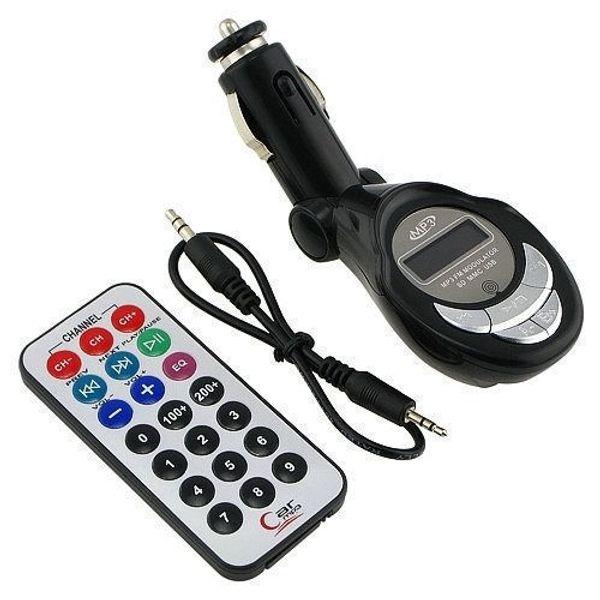 Black Lute Shape Car MP3 Player FM Transmitter Modulator USB SD/TF Slot In-car Handsfree FM radio Transmitter car Audio + Remote Control