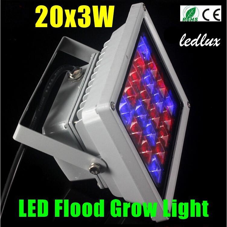 60W 20x3w LED Hydroponik wachsen helle Lampe für Blumenanlage, LED-Flutlicht, geführtes Licht im Freien, Kräuter, Gemüse