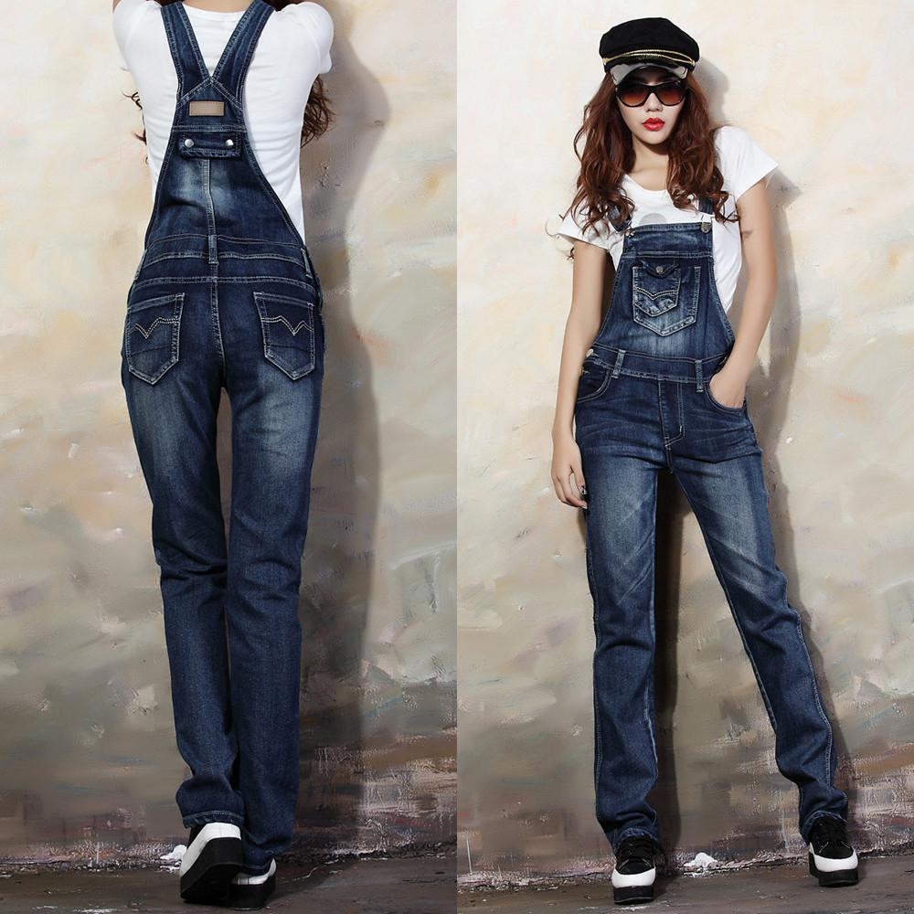 2017 New 2014 Overalls Jeans Denim Bib Pants Women Spaghetti Strap ...