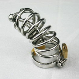 Wholesale Large Metal Chastity Cages - Brand New Large Stainless Steel Chastity Cock Cage Metal Catheter Urethral Sound Adult Toy(Male chastity belt device bdsm toys