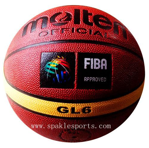 best selling Wholesale-407-Free shipping Fake Brand Molten GL6 basketball, abrasion proof size6 Woman basketball, outdoor & indoor basketball