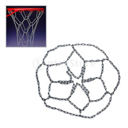 Wholesale Basketball Official - Wholesale-407-Free Shipping Metal Basketball Official Size Chain Netting Nets