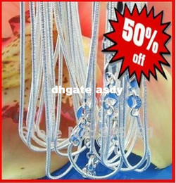 "Wholesale Sterling Silver Pendant Clasp - Factory Price Free Shipping 20Pcs 18"" 925 Sterling Silver Jewelry Link Snake Necklace Chains With Lobster Clasps For Pendant"