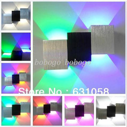 Wholesale Tv Wall Mounts Free Shipping - New Modern fashion wall lamps 85-265V 2*1W wall mounted backdrop aisle light stair lamp TV background lamp drop free shipping