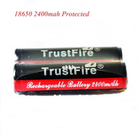 Wholesale Rechargeable Battery Protected - Wholesale-407-2PCs Lot Trustfire 18650 Colorful Protected Battery 3.7v 2400 mAh Torch Flashlight Li-ion Battery 18650 Rechargeable Battery