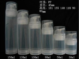 Wholesale Used Airless - 100ml 150ml Transparent airless pump bottle or lotion bottle can used for Cosmetic Sprayer or Cosmetic Container DHL Free 50pcs