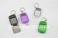 Wholesale Pocket Calculators - 120pcs lot New 8 digit Pocket Mini and easy to carry compact Keychain Calculator Key Chain creative Free Shipping