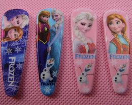 Wholesale Metal Claw Clips - Mix styles 2016 new frozen girls cartoon hairpins children cute hair accessories princess Elsa Anna hair clips plastic metal hair claws
