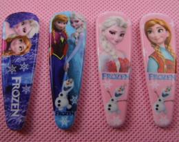 Wholesale Metal Hair Claws Clips - Mix styles 2016 new frozen girls cartoon hairpins children cute hair accessories princess Elsa Anna hair clips plastic metal hair claws