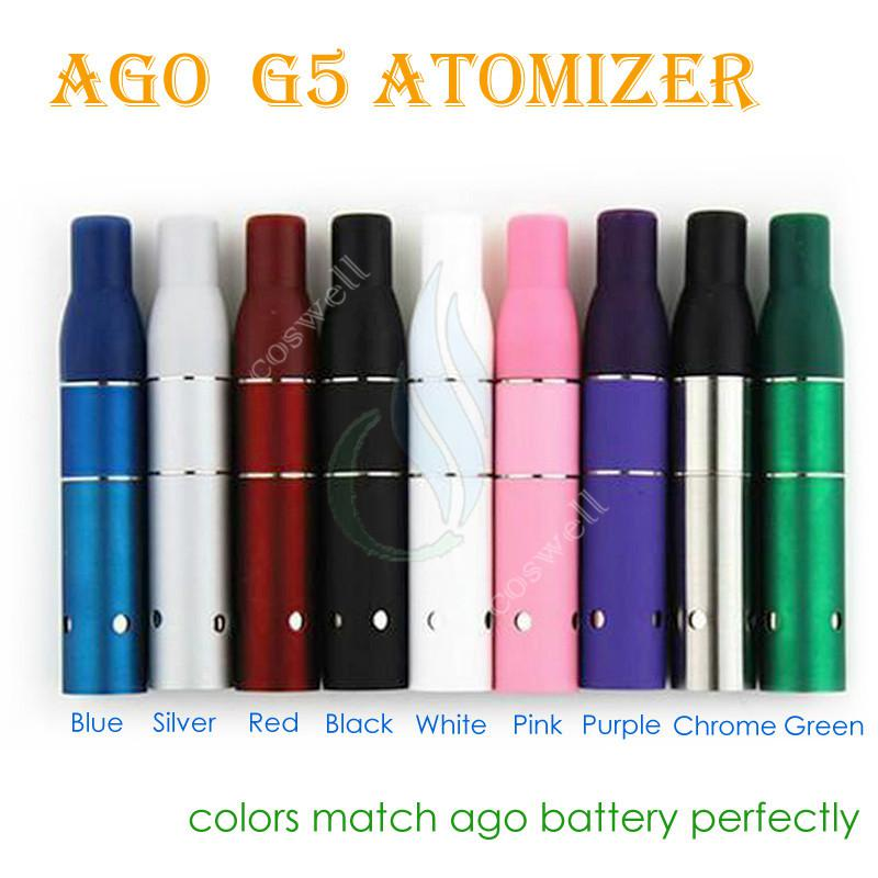 AGO G5 atomizador de erva seca para ago ego bateria Dry Herb Wax Vaporizador vaporizadores à base de plantas caneta cigarro eletrônico e mini vapor de vidro tanque caneta