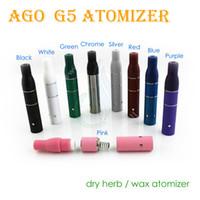 mini vaporizadores al por mayor-AGO G5 atomizador de hierba seca para la batería del ego Vaporizador de hierba seca Vaporizador de hierbas vaporizadores a base de cigarrillos cigarrillo electrónico y mini tanque de vidrio de vapor pluma