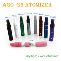 Wholesale Electronic Ego G5 - AGO G5 dry herb atomizer for ago ego battery Dry Herb Wax Vaporizer herbal vaporizers pen electronic cigarette and mini vapor glass tank pen