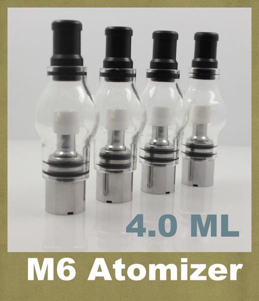 M6 Atomizador 4.0 ml Clearomizer Glass Globe Tank Anti-oxidation para eGo e-cig 650mah 900mah 1100mah Cigarrillo electrónico eGo-T M6 BQ060